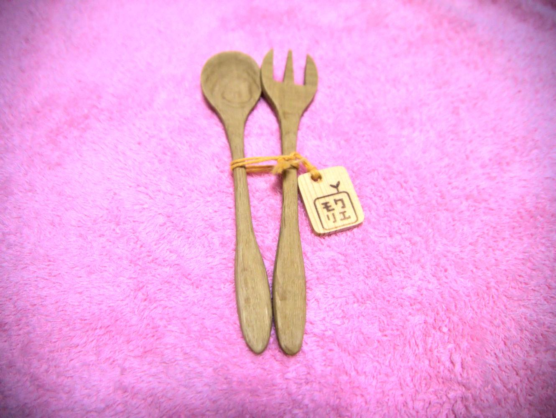 mokurieito製 木製スプーンフォークセット