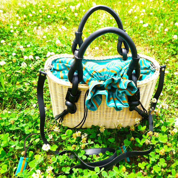 お嬢様のかごバッグ インドネシア製